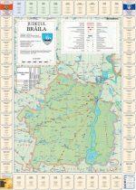 Harta judetului Brăila cu primării
