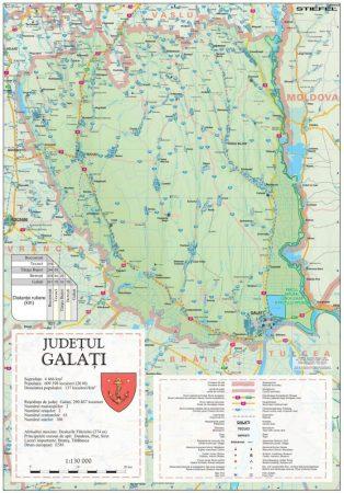 Harta județului Galați, șipci plastic