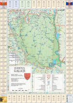 Harta Judetului cu primarii Galati