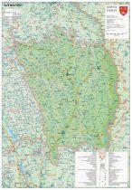 Harta județului Vaslui, șipci plastic