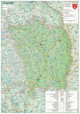 Harta Judetului Vaslui 70x100 cm sipci plastic