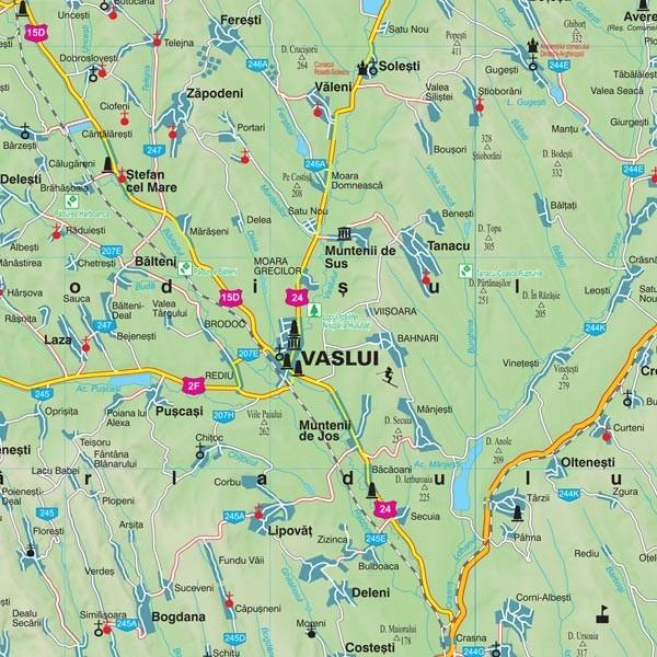 Harta Judetului Vaslui 70x100 Cm Sipci Plastic Stiefel Romania