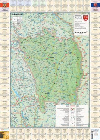 Harta Judetului cu primarii Vaslui