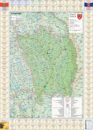 Harta județului Vaslui cu primării