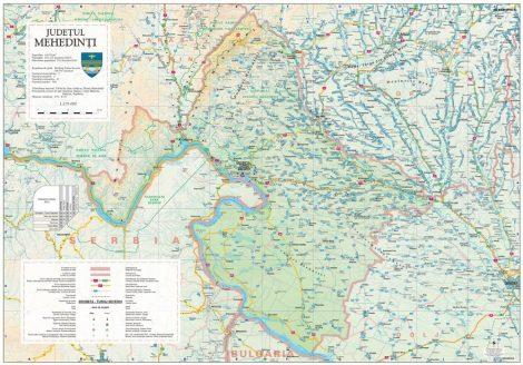 Harta județului Mehedinți, șipci plastic
