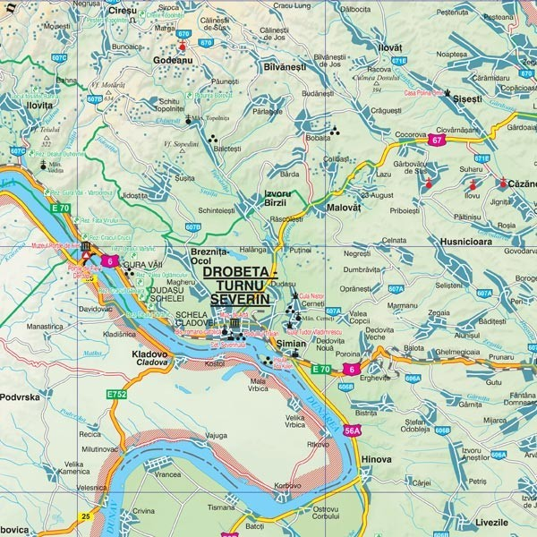 Harta Mehedinti In Rama De Aluminiu Stiefel Romania