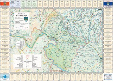 Harta Judetului cu primarii Mehedinti
