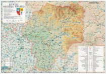 Harta Judetului Bistrita - Nasaud 100x70 cm sipci plastic