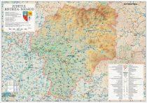 Harta județului Bistrița - Năsăud, șipci plastic