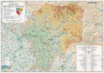 Harta Bistrita Nasaud in rama de aluminiu