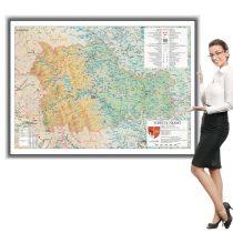 Harta Neamț în ramă de aluminiu