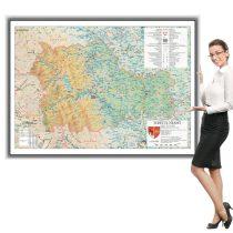 Harta județului Neamț în ramă de aluminiu