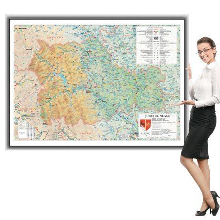 Harta Neamt in rama de aluminiu