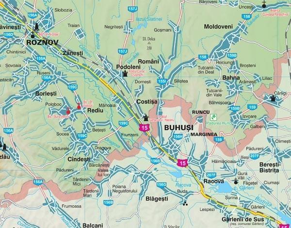 Harta Neamt In Rama De Aluminiu Stiefel Romania