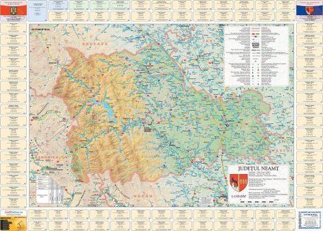 Harta județului Neamț cu primării