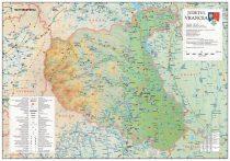 Harta județului Vrancea, șipci plastic
