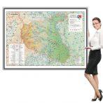 Harta județului Vrancea în ramă de aluminiu