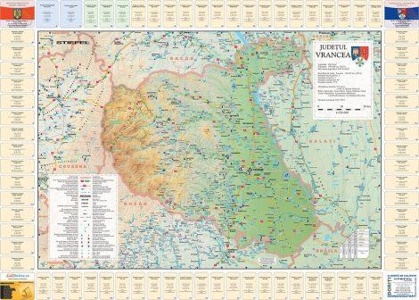 Harta județului Vrancea cu primării