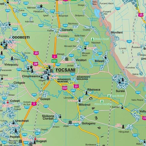 Harta Judetului Cu Primarii Vrancea Stiefel Romania