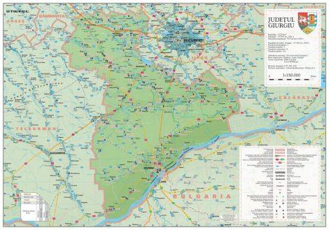 Harta județului Giurgiu, șipci plastic