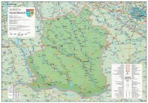 Harta Judetului Teleorman 100x70 cm sipci plastic