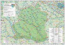Harta județului Teleorman, șipci plastic