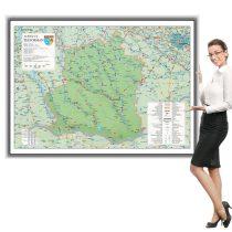 Harta Teleorman in rama de aluminiu