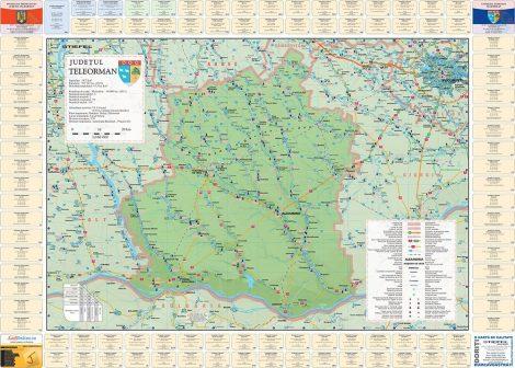 Harta județului Teleorman cu primării