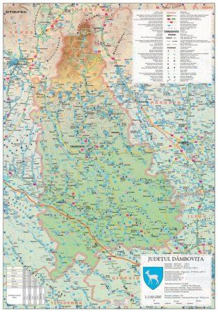 Harta județului Dâmbovița, șipci plastic