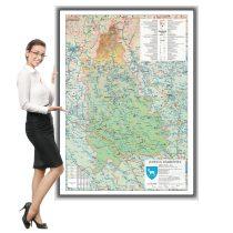 Harta Dambovita in rama de aluminiu