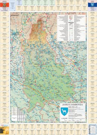 Harta județului Dâmbovița cu primării