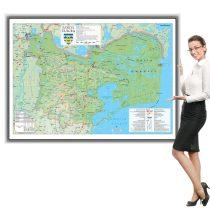 Harta județului Tulcea în ramă de aluminiu