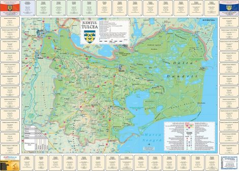Harta Judetului cu primarii Tulcea