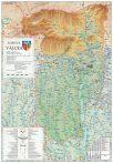 Harta județului Vâlcea, șipci plastic