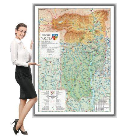 Harta Valcea in rama de aluminiu