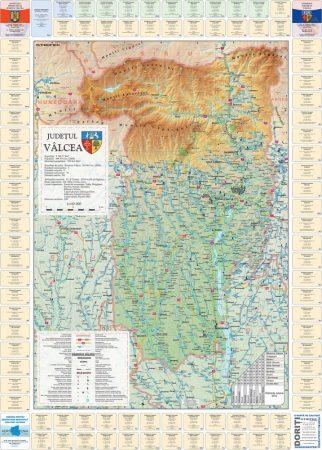 Harta Judetului cu primarii Valcea