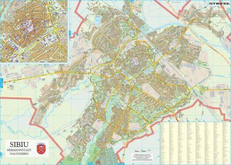 Harta Municipiului Sibiu SB - șipci de plastic