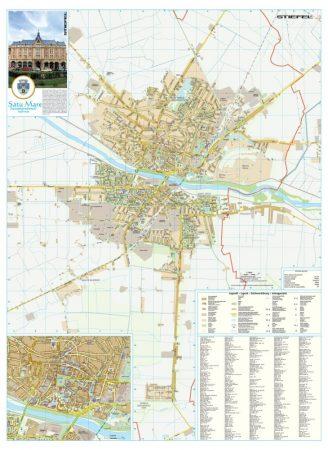 Harta Municipiului Satu Mare SM - sipci de plastic