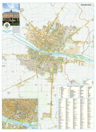 Harta Municipiului Satu Mare SM - șipci de plastic
