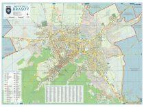 Harta Municipiului Brasov BV (print digital) - sipci de lemn
