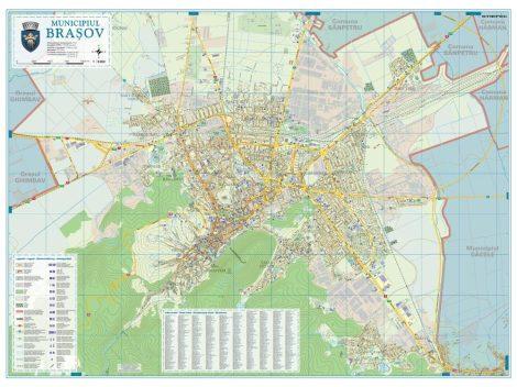 Harta Municipiului Brașov BV  - șipci de lemn