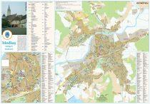 Harta Municipiului Mediaș SB - șipci de plastic