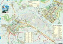 Harta Municipiului Onești BC - șipci de lemn