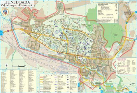 Harta Municipiului Hunedoara HD - sipci de plastic