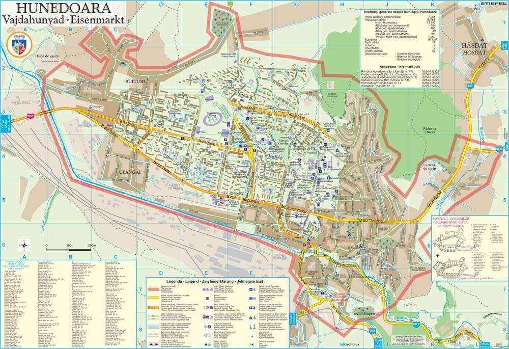 Harta Municipiului Hunedoara Hd Sipci De Plastic Stiefel Romania