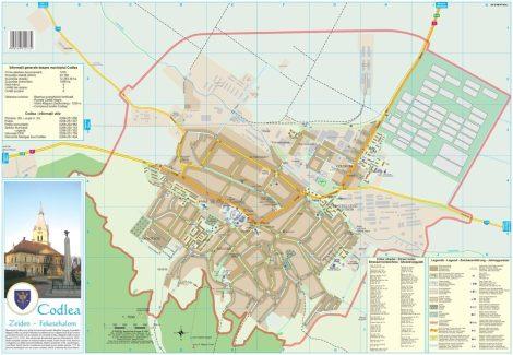 Harta Municipiului Codlea BV - șipci de plastic