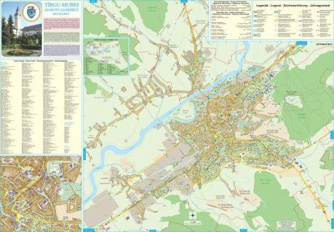 Harta Municipiului Targu Mures MS - sipci de plastic