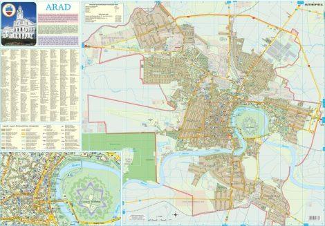 Harta Municipiului Arad AR - șipci de plastic