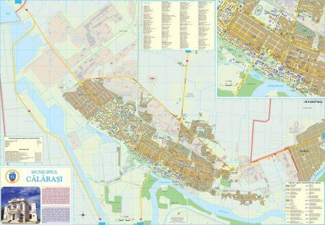 Harta Municipiului Calarasi CL - sipci de plastic