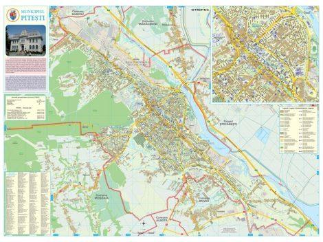 Harta Municipiului Pitesti AG - sipci de plastic